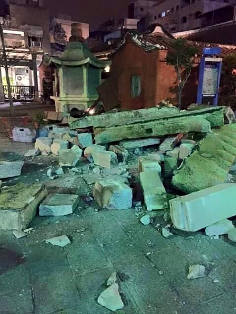 台南市西羅殿風神廟倒塌