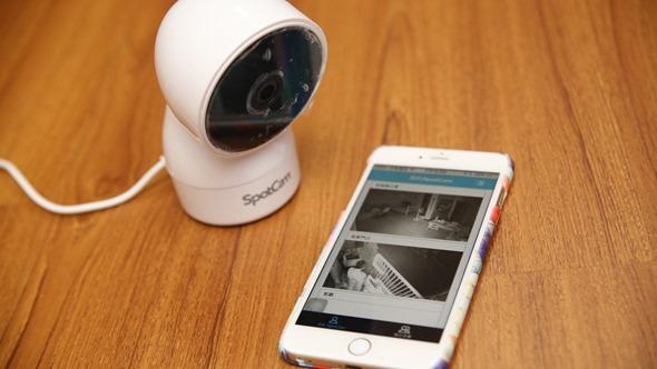 SpotCam HD Eva 雲端監控攝影機,廣角+360度旋轉鏡頭監視無死角!