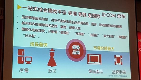 4627億人民幣的錢坑,「京東」來台灣向品牌商招手 20160316_135712