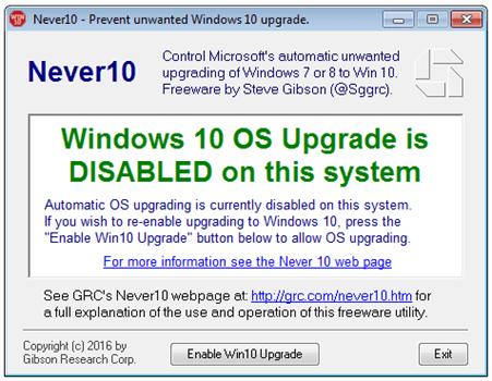 如何禁止 Windows 7/8/8.1 自動更新/升級到 Windows 10 disable-windows-10-os-upgrade