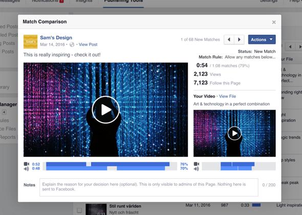 盜影片小編請注意,Facebook 推出著作權管理平台,影片、聲音全面監控 image-53