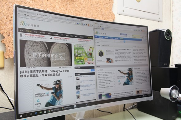 電腦螢幕也有劇院級的影音享受,Samsung C27F591FDE 曲面顯示器評測 image035