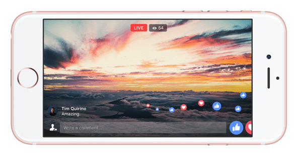 facebook live full screen