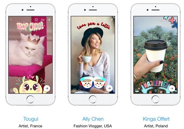 Facebook Messenger相機大改版,新增在地化貼圖和3D變臉效果 newsroom-3