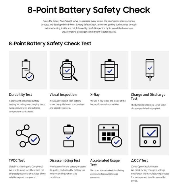 三星公布 Note 7 起火時間調查結果,原因就是它! Infographic-8-point-battery-safety-check