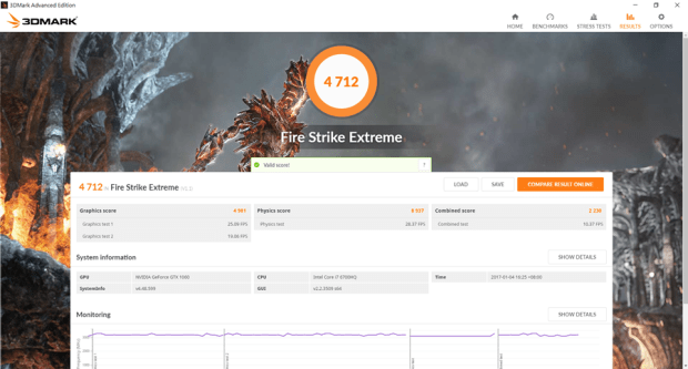 滿滿的效能帶在身上! ASUS ROG STRIX GL502VM 電競筆電輕鬆玩 VR,給你滿滿的大效能! fire-strike-extreme