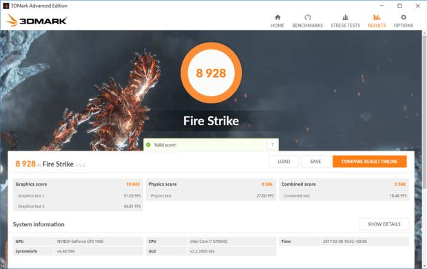 滿滿的效能帶在身上! ASUS ROG STRIX GL502VM 電競筆電輕鬆玩 VR,給你滿滿的大效能! fire-strike