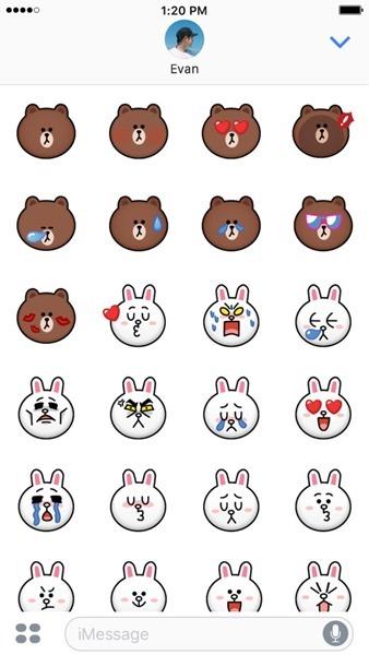 2款超萌的熊大&兔兔戀愛篇 iMessage 貼圖免費下載 line5