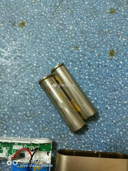 路邊買來廉價小米行動電源,拆開來看竟然混充子彈殼,史上最狂! 9846815ely1fehbsodtorj20ir0p0793
