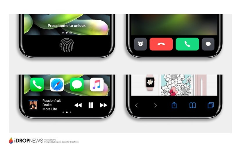 iPhone 8 將於螢幕上加入類似 Touch Bar 功能,發揮長螢幕的應用潛能 iphone-8-function-area-idrop-news-exclusive-7