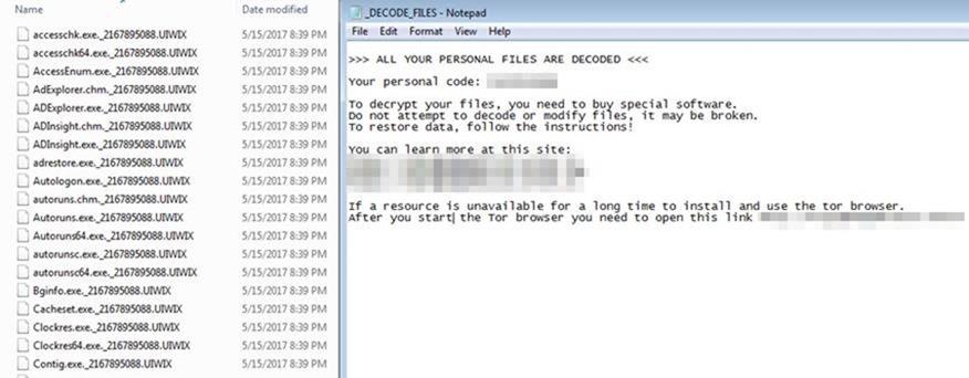 UIWIX 勒索病毒趁火打劫,具備閃躲飄技能更難以追蹤與察覺(附檢測工具) uiwix-ransomware-1