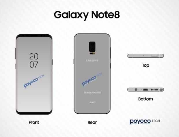 Galaxy Note 8 最新渲染圖出爐,可在螢幕上直接進行指紋辨識解鎖 DBoE55cUAAATJ3Y