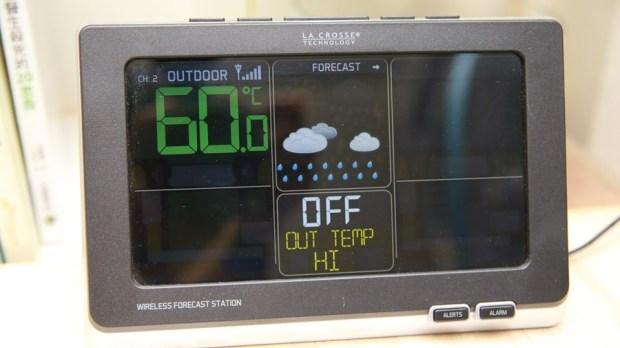 好市多3C:LA CROSSE 無線彩色電子氣象偵測計,具室內外溫溼度監測/預測、天氣預測與日曆報時功能,居家必備超好用! IMG_6677