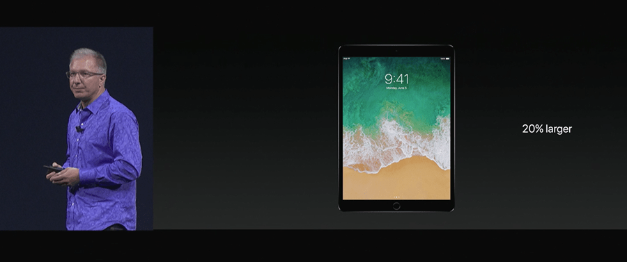 Apple 推出 10.5 吋 iPad Pro,體積縮小螢幕更大,設計取向朝 PC 看齊 WWDC2017-239