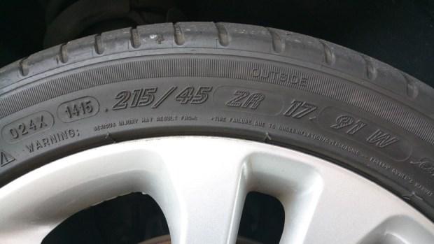 輪胎上的數字,你知道是什麼嗎? IMAG0879