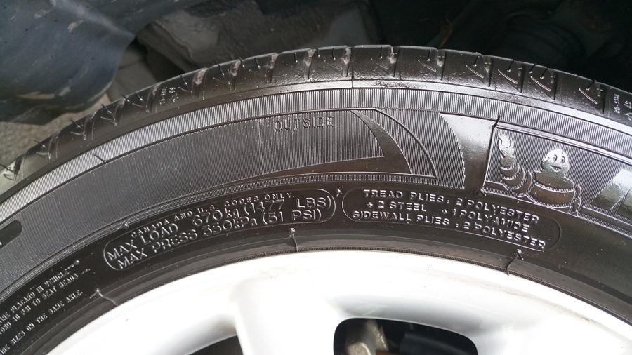 輪胎上的數字,你知道是什麼嗎? IMAG0891