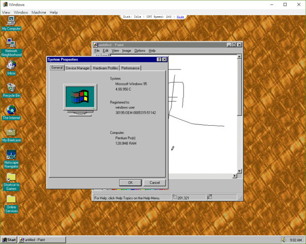 Windows 95 回來了!用 JavaScript 寫的模擬器,讓你回到 25 年前,重溫 DOOM、德軍總部老遊戲 windows95-2