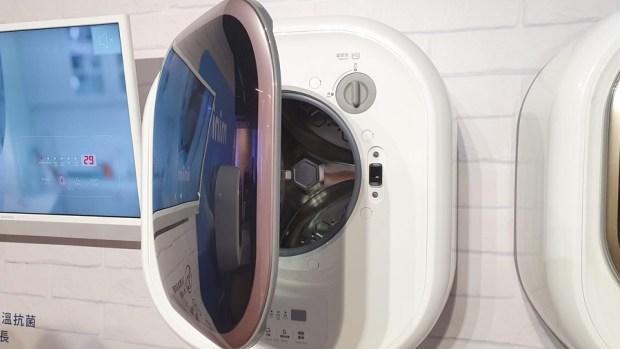 韓流來襲,DAEWOO 煒伲雅大宇在台推出世界首創「壁掛式洗衣機」,體積超迷你隨處好安裝 20190723_135905