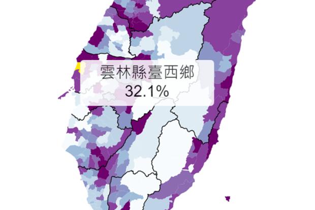 台灣姓氏地圖:看看台灣20大姓氏的人口在那些地區最多 Image-058
