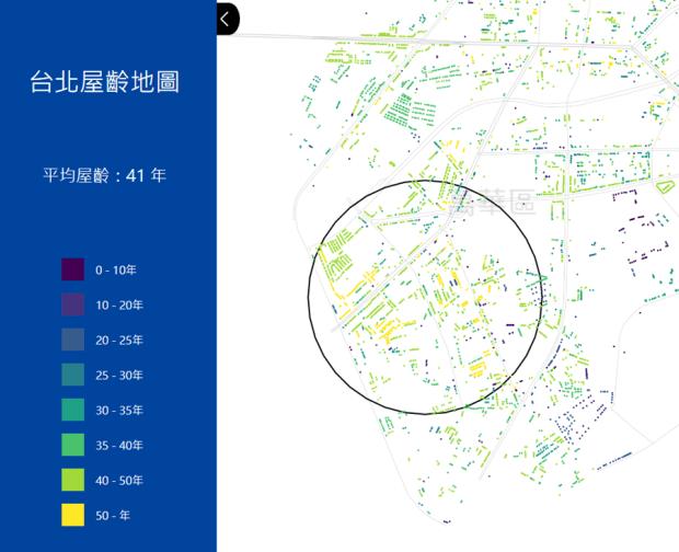 台北市區究竟有多「老」?台北屋齡地圖一次解析 image-4