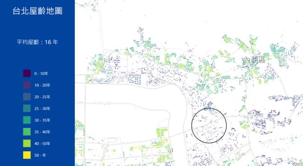 台北市區究竟有多「老」?台北屋齡地圖一次解析 image-6