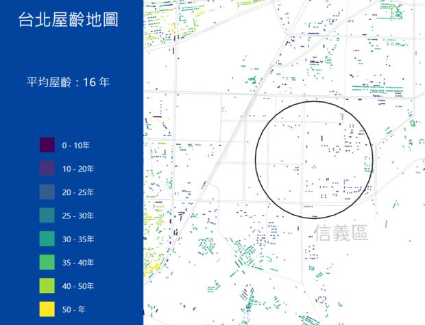 台北市區究竟有多「老」?台北屋齡地圖一次解析 image-8