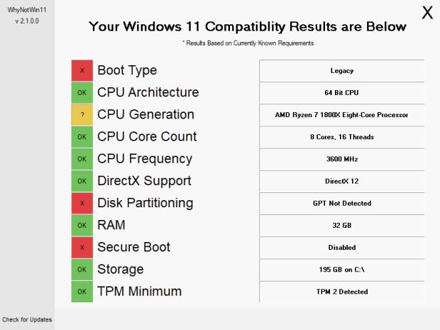 為什麼電腦不能升級 Windows 11?WhyNotWin11 相容性檢測工具一五一十告訴你 image-2