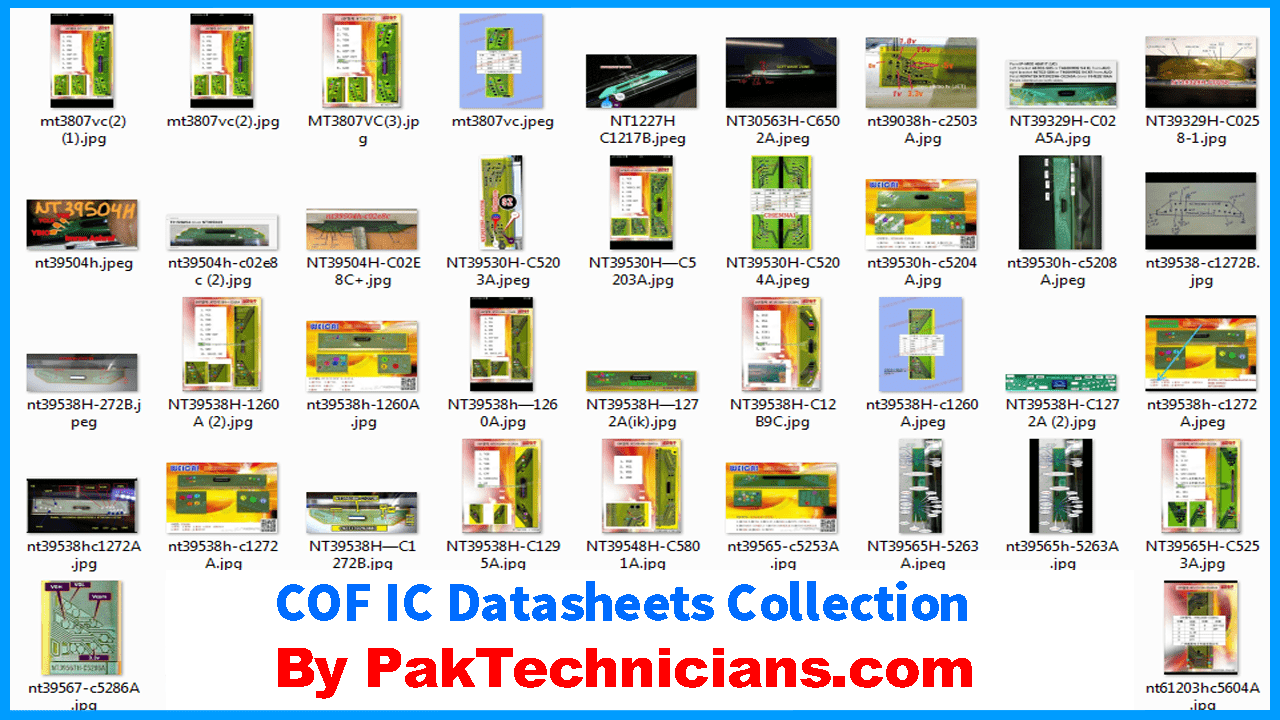 Lcd  Led Tv Panel Cof Ic Datasheets Collection Free Download