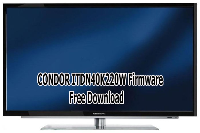 GRUNDIG 40VLE7230BR SPI + Full Firmware Free Download