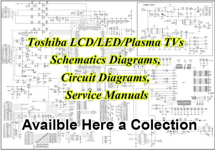 Toshiba TVs Schematics Diagrams, Circuit Diagrams, Service ManualsSoft4led