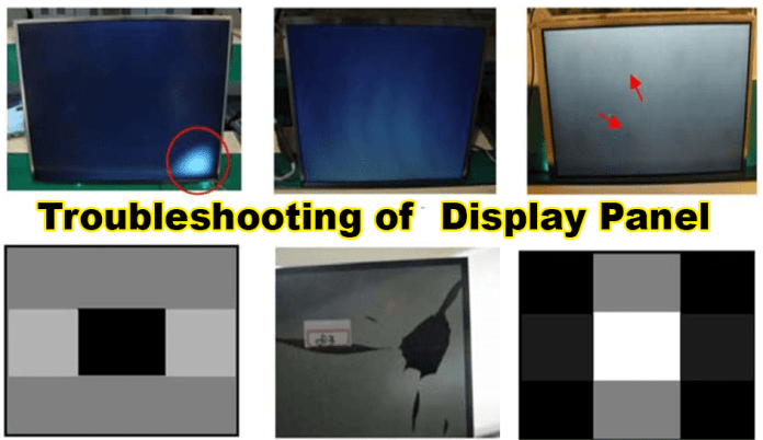 Troubleshooting of  Display Panel