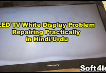 LED TV White Display Problem Repairing Practically in Hindi/Urdu