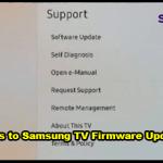 Samsung TV Firmware Update