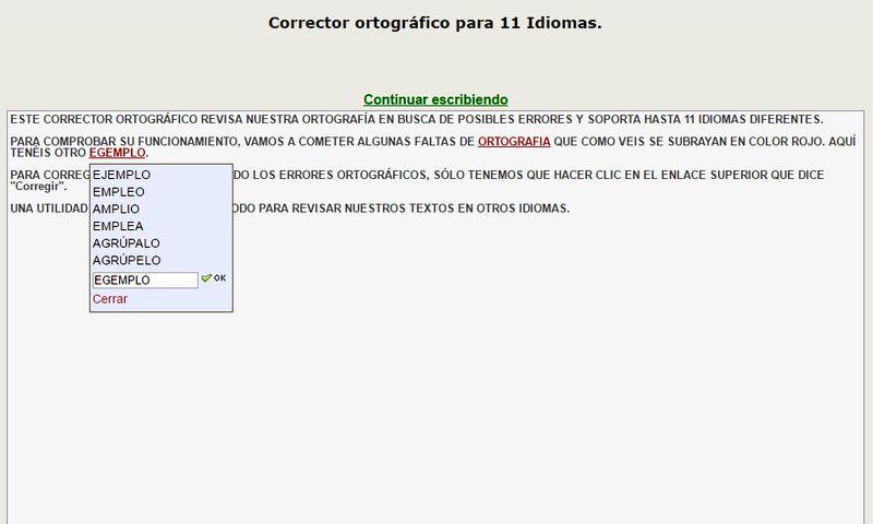 Corrector ortografico2 Corrector Ortográfico, gratuito y online, para 11 idiomas