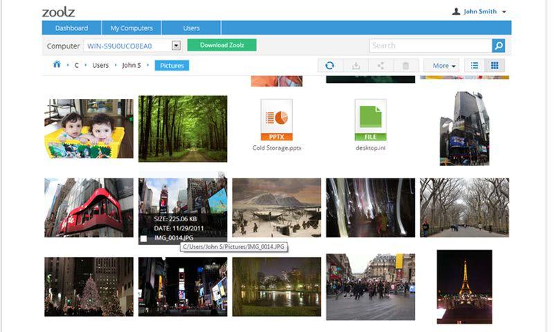 Zoolz screenshot Zoolz: 100 GB de almacenamiento online gratuito para primeros 100000 usuarios