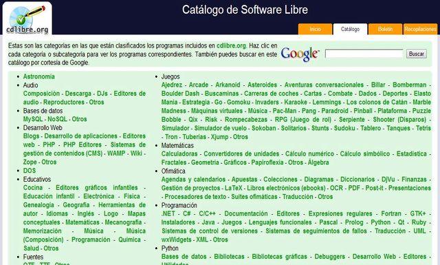 CdLibre CdLibre, el catálogo de software libre repleto de aplicaciones