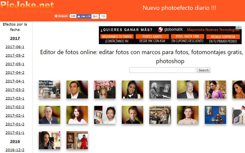 Crear fotomontajes gratis online PicJoke Crear fotomontajes gratis online con estas 10 páginas