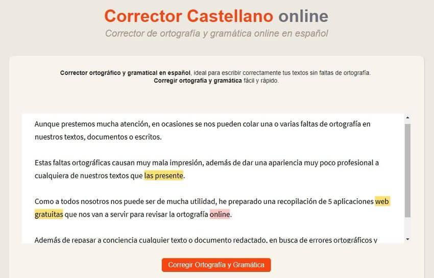 Revisar la ortografía online Corrector de Castellano Revisar la ortografía online con estas 5 aplicaciones web gratuitas