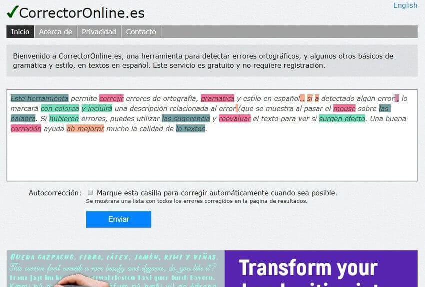 Revisar la ortografía online CorrectorOnline Revisar la ortografía online con estas 5 aplicaciones web gratuitas