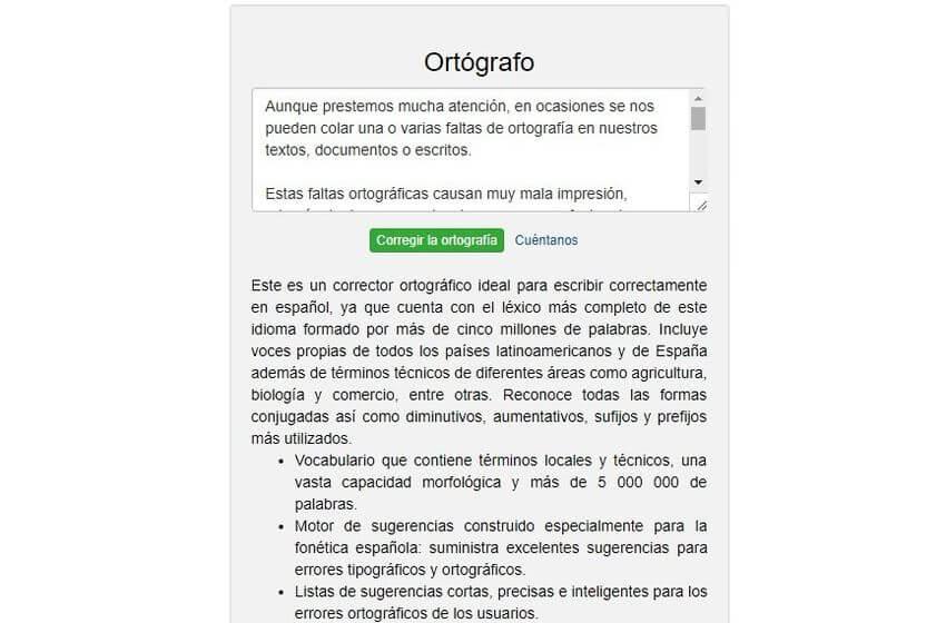 Revisar la ortografía online Ortógrafo Revisar la ortografía online con estas 5 aplicaciones web gratuitas