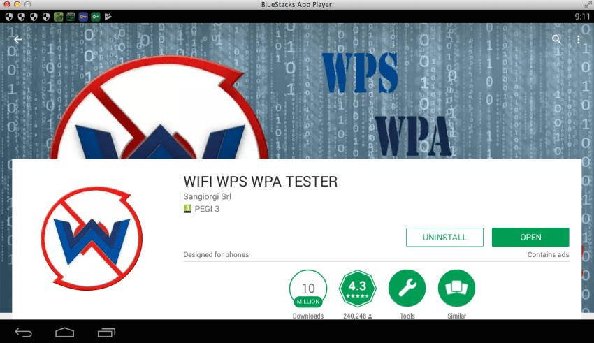 WIFI-WPS-WPA-TESTER-PC-BlueStacks