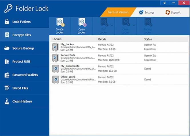 Folder Lock windows