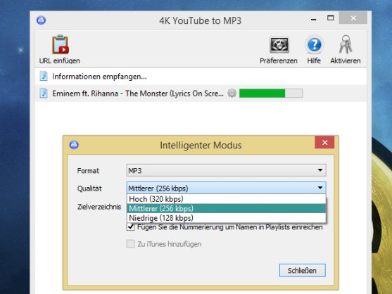4K YouTube to MP3 windows