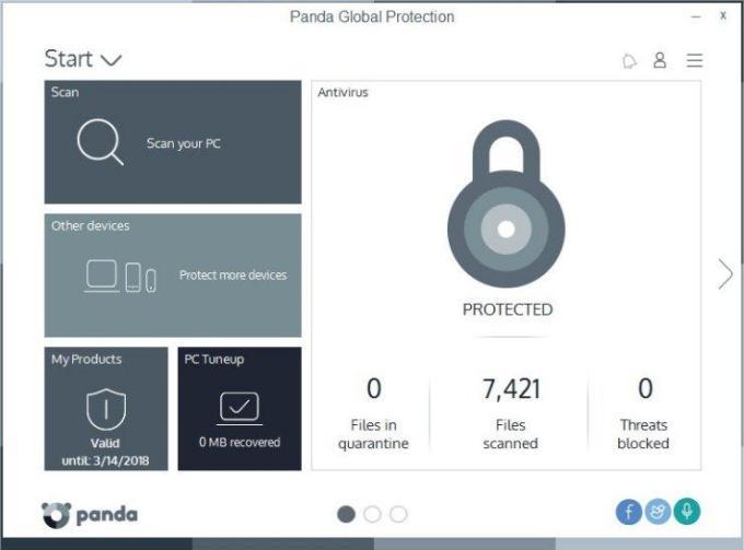 Panda Global Protection windows