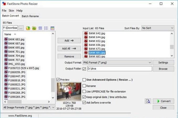 FastStone Photo Resizer latest version