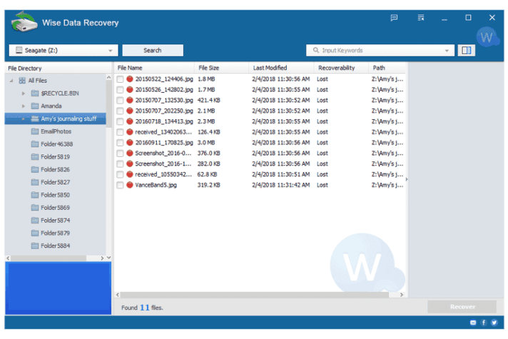 Wise Data Recovery windows