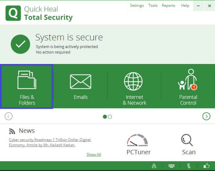 Quick Heal Total Security windows