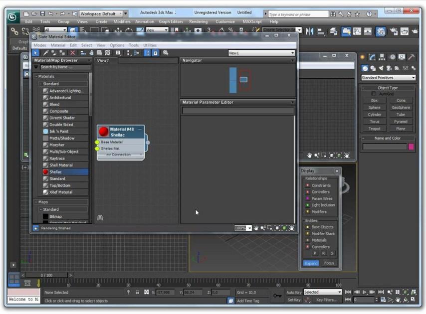 Autodesk 3ds Max windows