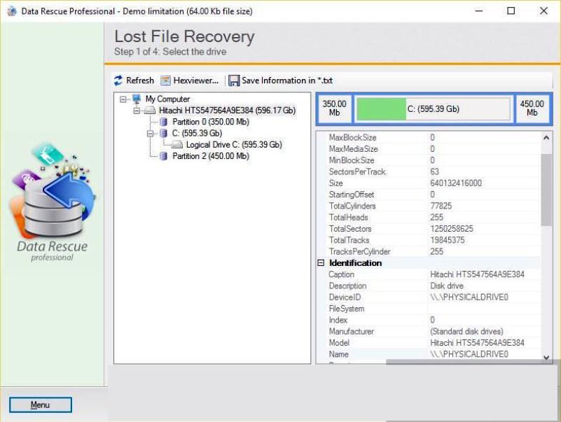 Data Rescue Professional windows