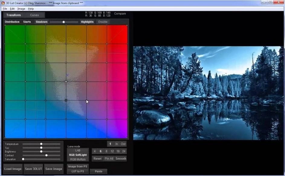 3D LUT Creator windows